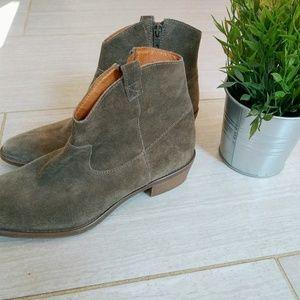 Madewell barnwood ankle boots